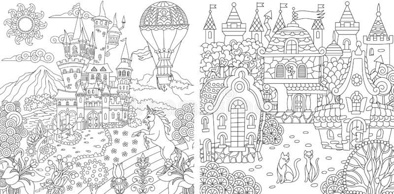 Coloring Pages Coloring Book For Adults Colouring Pictures With Fantasy Castle Sponsored Affiliate Ad Coloring Pictures Coloring Pages Coloring Books