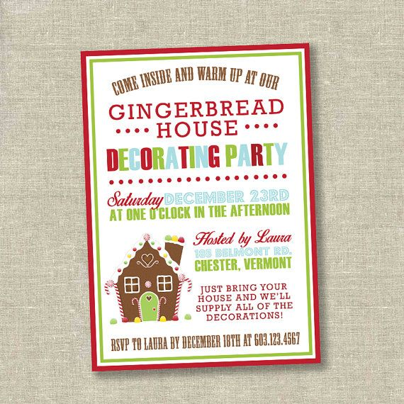 I like the come inside and warm up at our part christmas part christmas party invitation gingerbread decorating party gingerbread house invitation kids christmas party invitation filmwisefo Images