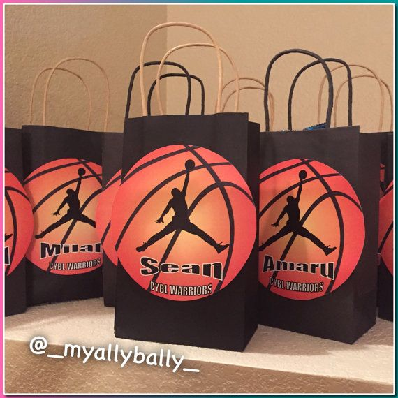 Made To Order Basketball Personalized Gift Bags By Myallybally