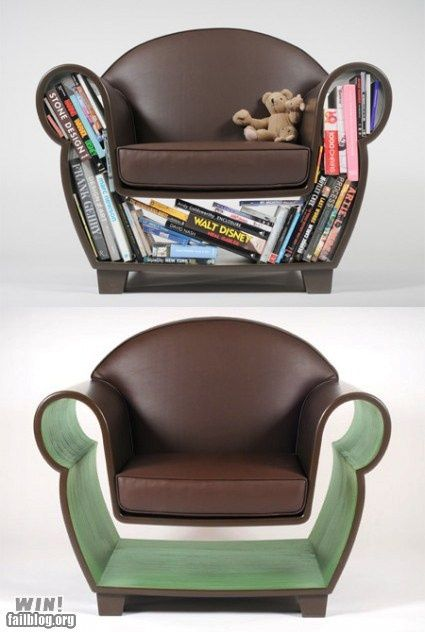 Book Chair Cafe Pinterest Book Shelves Shelves And Books - Bookchair combined with bookshelf