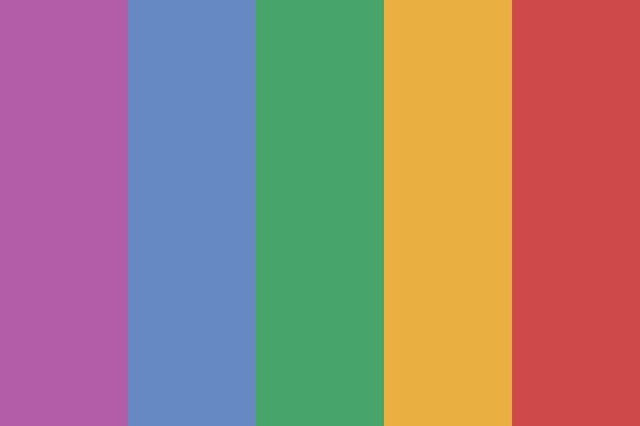Retro Rainbow Color Palette In 2020 Retro Color Palette Rainbow Palette Vintage Colour Palette