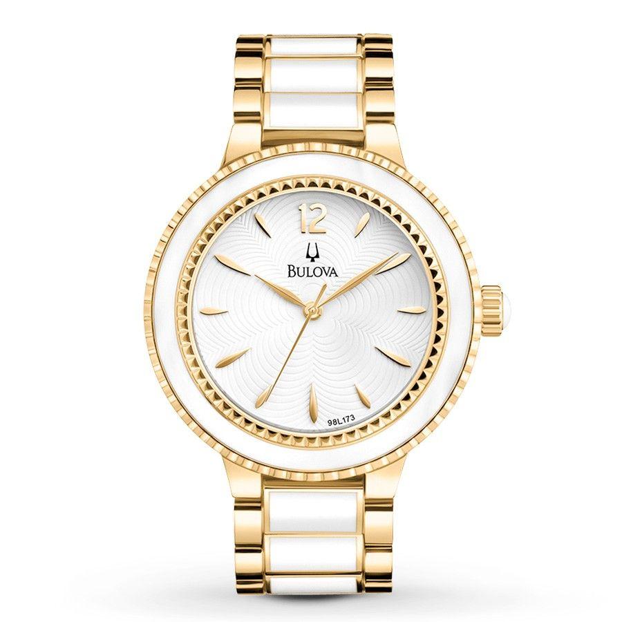 Reloj Bulova combinado de cerámica Modelo 98L173 para mujer. Un ...