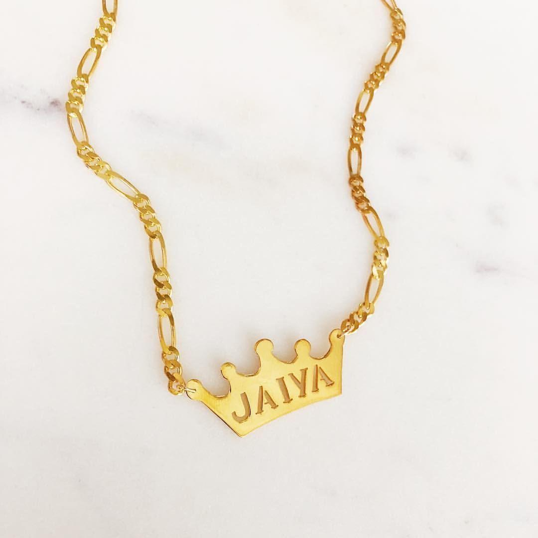 baby jewelry. Custom crown necklace
