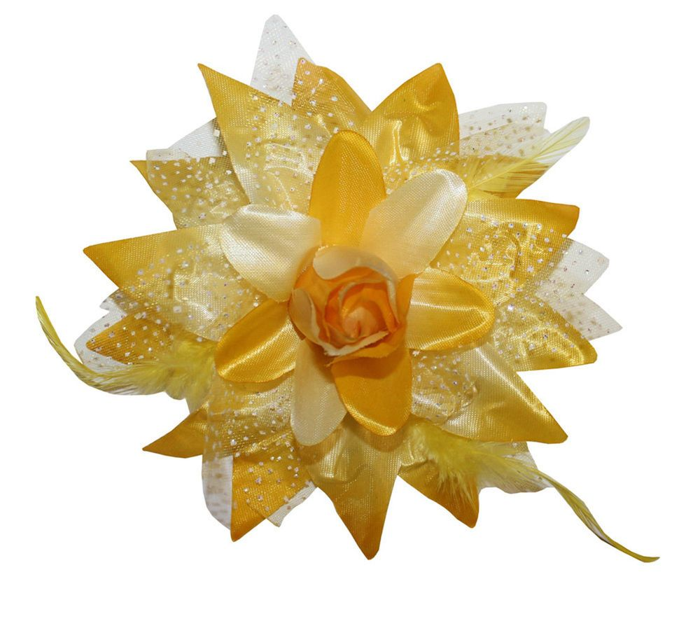 Flower Hair Clips NEW Dance Wholesale Lot 12 Dotted Flower Lily Alligator Hair Bows Clips & Brooch #WebbDirect2U #Dance_Bows