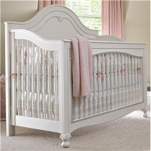Isabella Built To Grow Gala Convertible Crib By Young America   Jacksonville  Furniture Mart   Crib