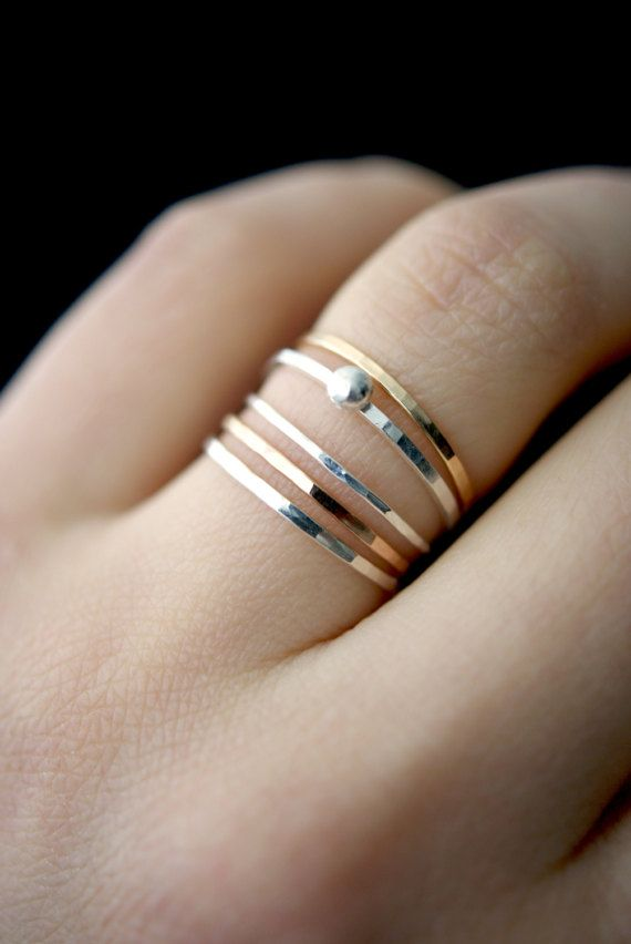 bb245d0c87c5a In Orbit sterling silver stack ring, silver stackable ring, sterling ...