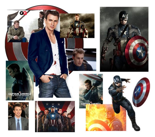 """Captain America"" by mayday004 ❤ liked on Polyvore featuring art"
