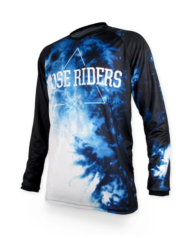 Loose Riders BLUE KUSH Herren Jerseys Lange Ärmel