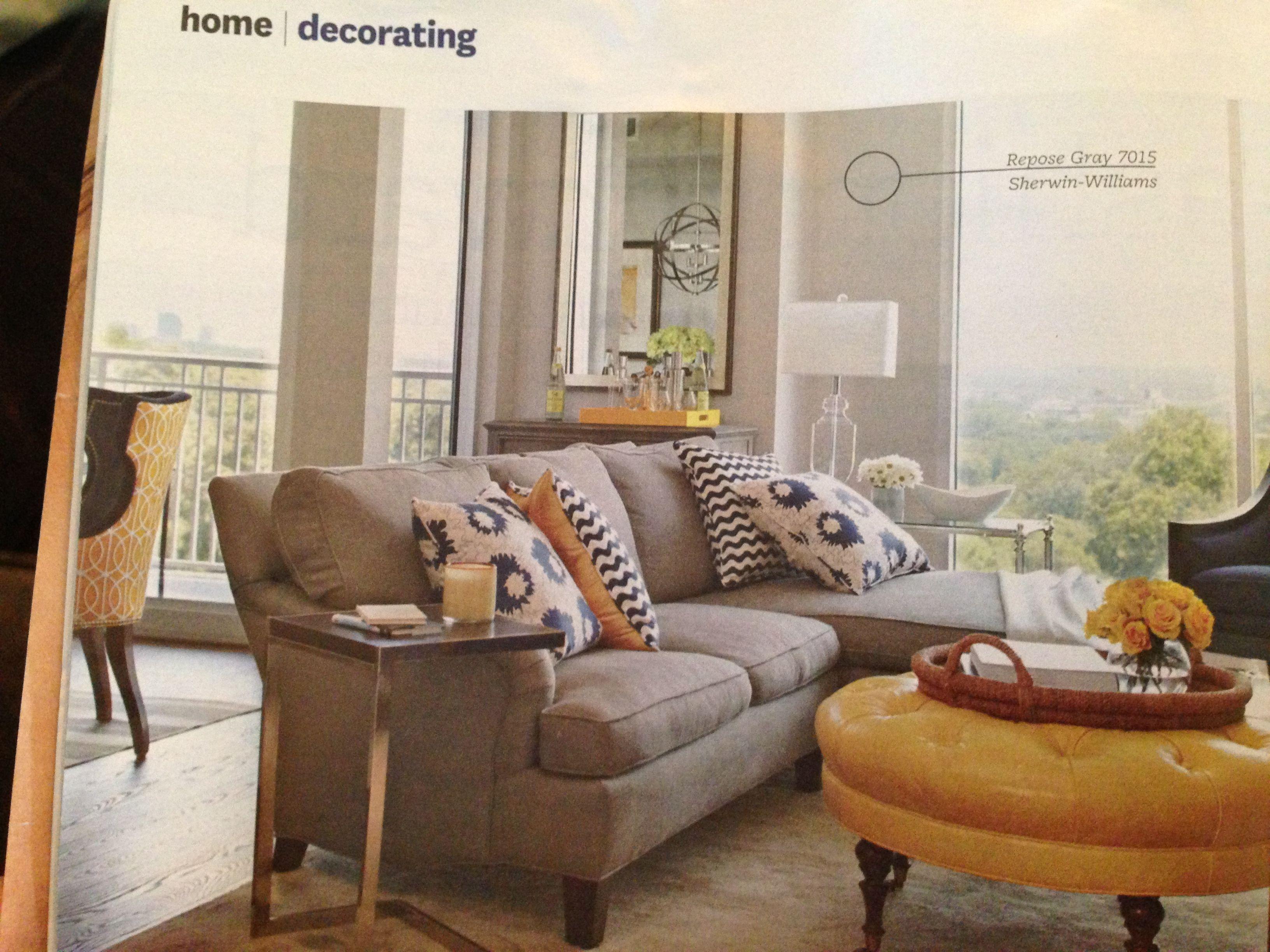 Repose Gray 7015 Sherwin Williams Repose Gray Home Living Room