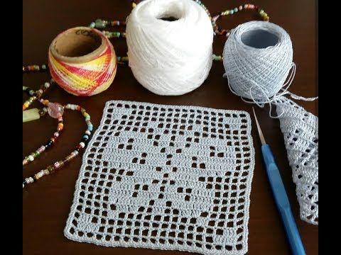 Tığ işi kare motif örnekleri&Crochet #crochetmotif