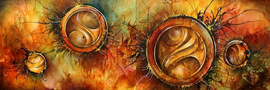 ' Sun Gods ' Painting by Michael Lang