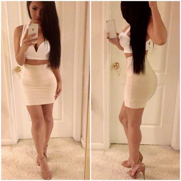 Resultado de imagen para high waisted mini skirt | ropita ...