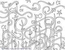 animal coloring pages, fish coloring page, ocean coloring page