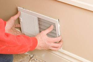 Register Vents At Baseboard With Images Clean Air Ducts Air Conditioning Installation Baseboard Heating