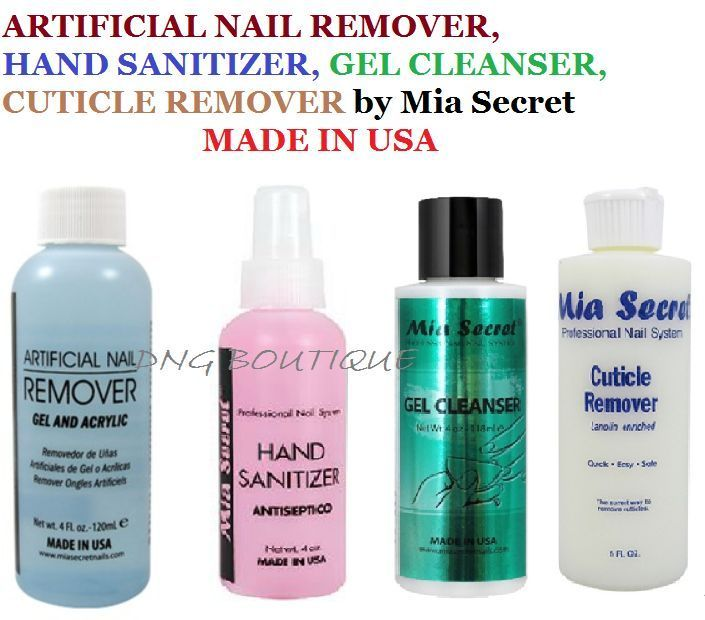 Mia Secret Nail Remover Gel Cleanser Hand Sanitizer Cuticle