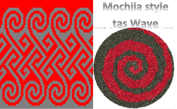 Ontwerp Wave Mochilaaahh Crochê Tapeçaria En Bolsas
