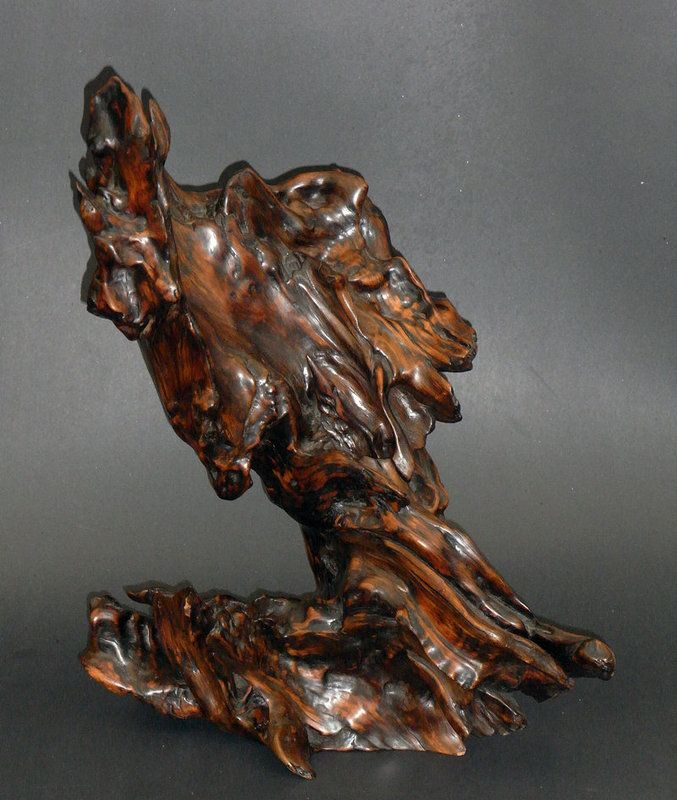 An Old And Large Natural Root Wood Sculpture Item 1114815 Detailed Views Wood Sculpture Wood Carving Art Driftwood Sculpture