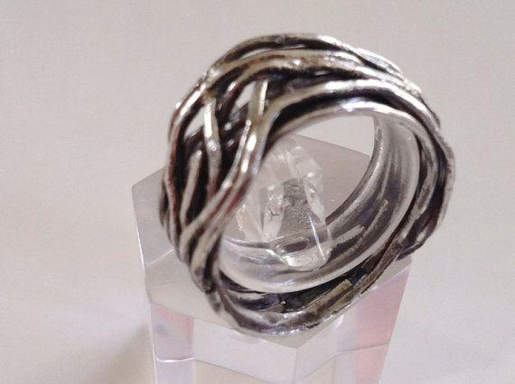 £45 Etsy - Modern Sterling Silver Oxidised Black by MairiJewellery on Etsy