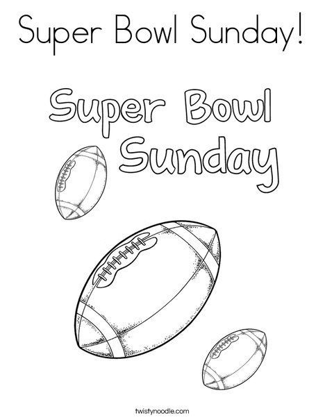 Super Bowl Sunday Coloring Page Twisty Noodle Football Coloring Pages Super Bowl Sunday Sports Coloring Pages