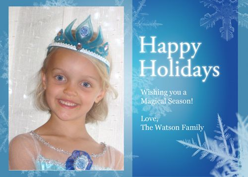 Frozen Holiday Card - Make it a magical holiday using a great ...