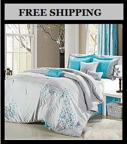 Hotel Collection Aqua King Comforter Sets New Beautiful 8 Pc