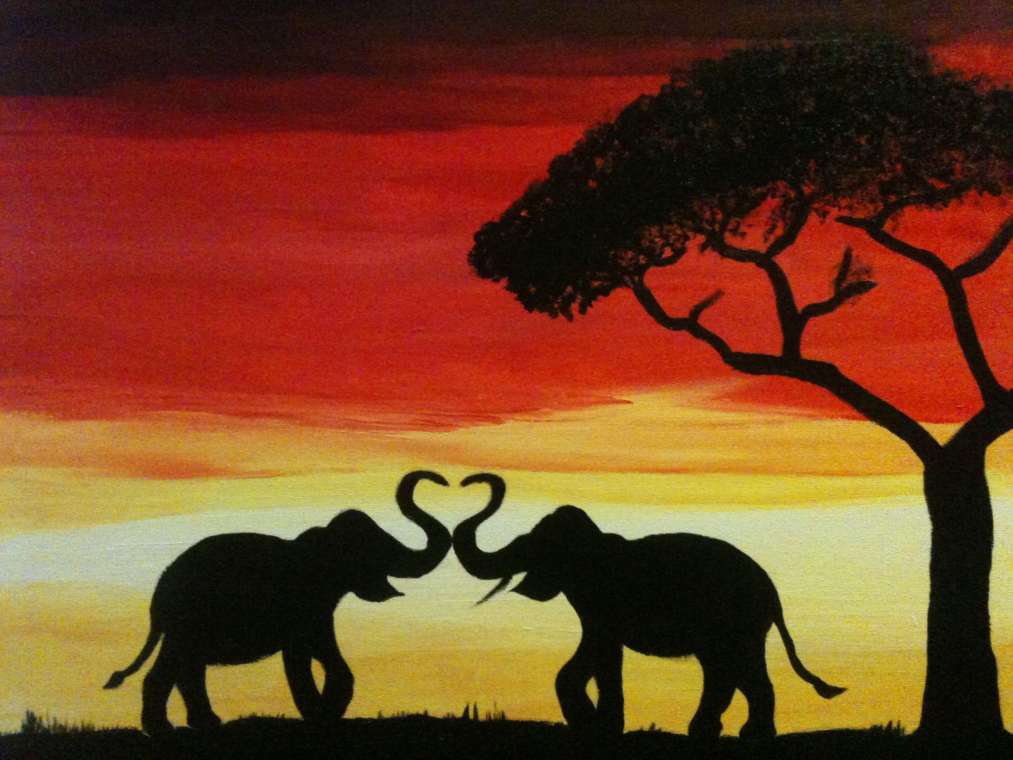 Elephant Love painting | My Artwork | Pinterest | Artwork ... - photo#7