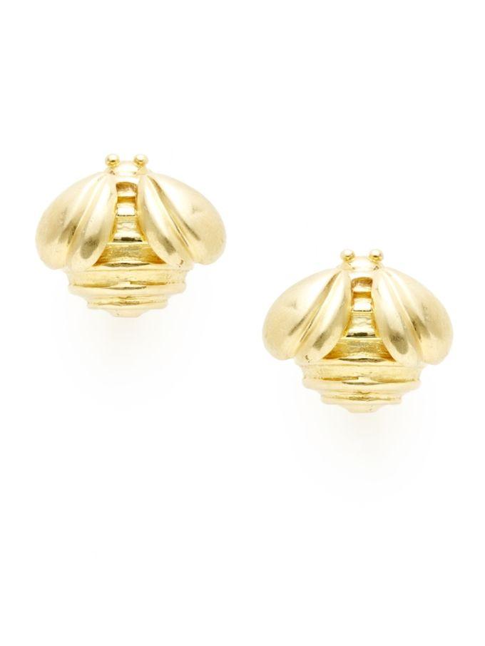 Slane Slane Gold Bee Earrings from Gold Standard Fine Jewelry