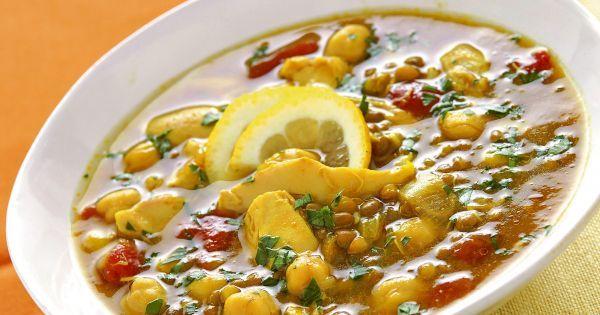 Ricetta Harira con pollo, lenticchie e ceci   Donna Moderna