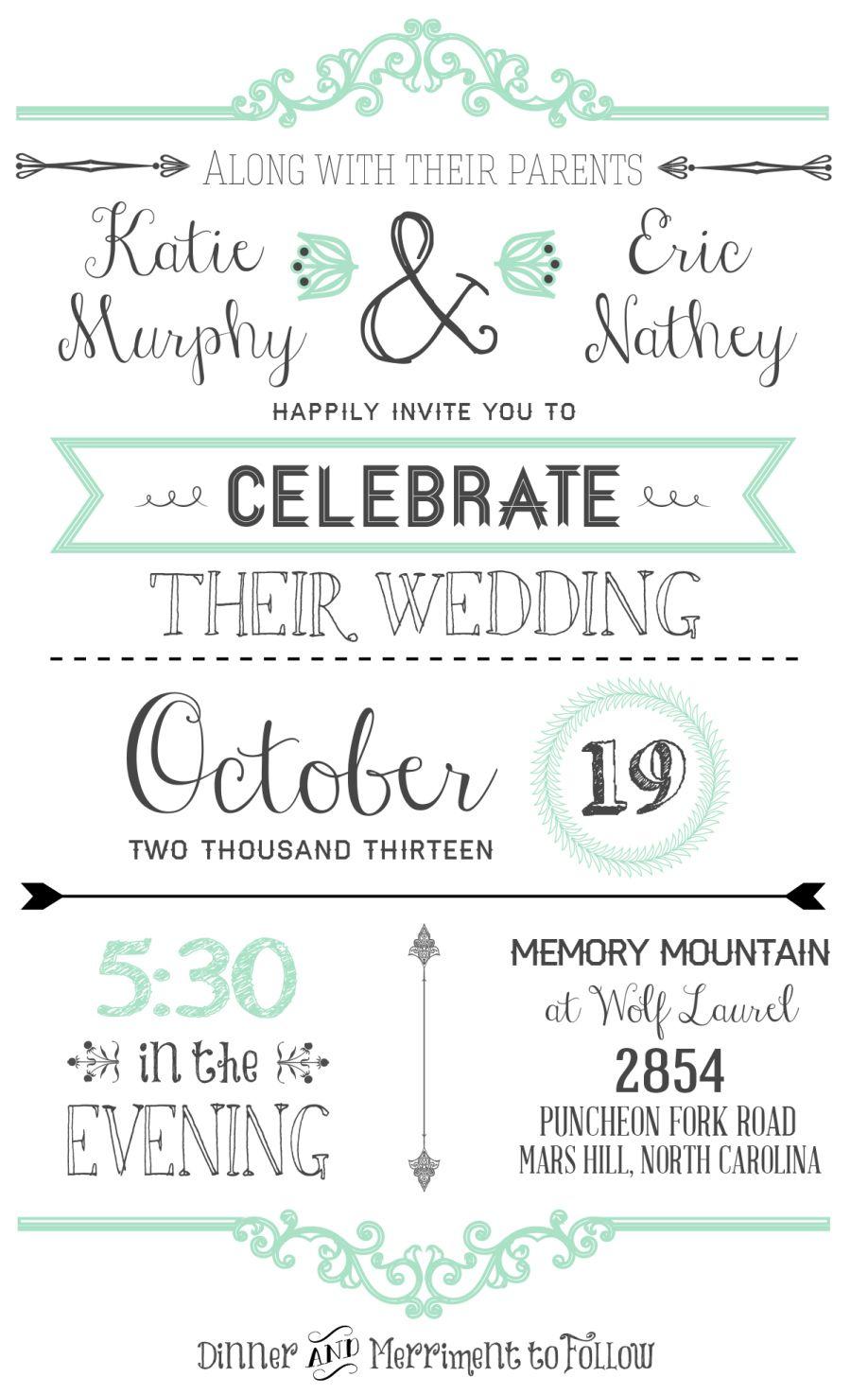 FREE Wedding Invitation Templates | Free wedding invitations, Free ...
