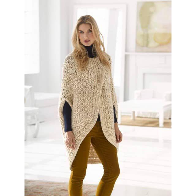 Cocoon Cape Pattern (Knit) - Lion Brand Yarn | Knitting | Pinterest