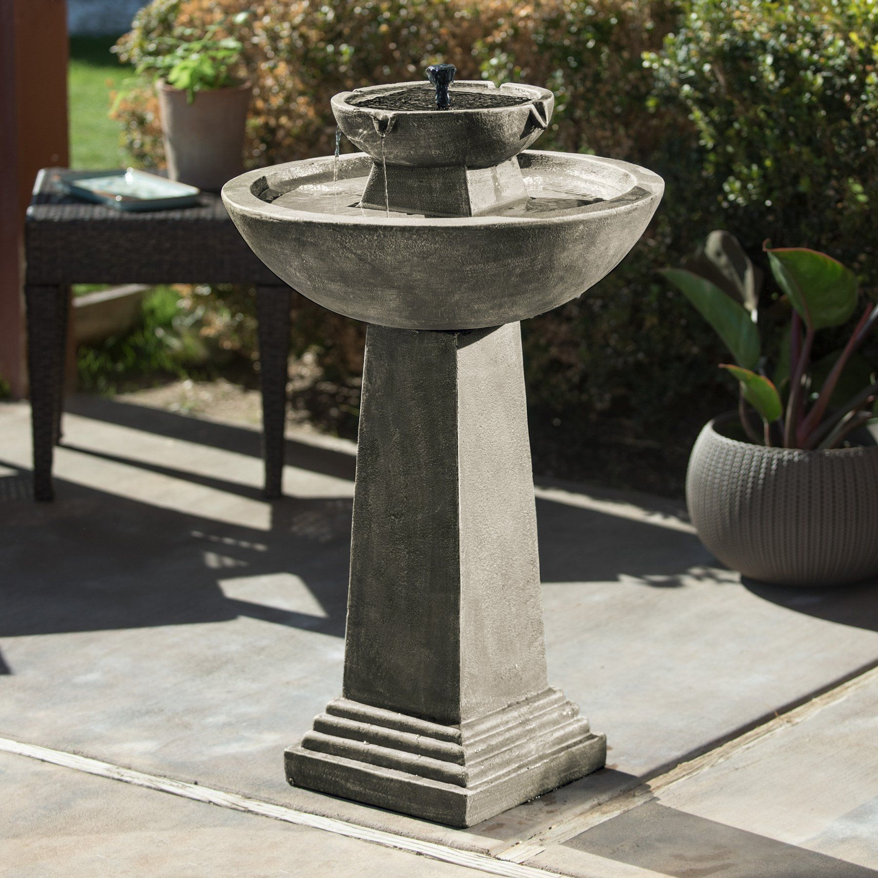 Smart Solar Gardens 2 Tier Solar On Demand Fountain