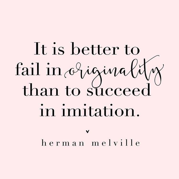 Cheers To Being Original Hermanmelville Quote Beoriginal Pink