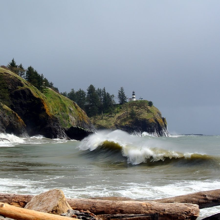 Cape disappointment state park features two miles of
