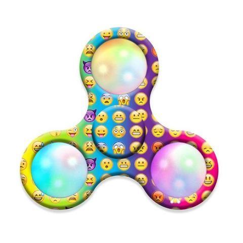 Led Emoji Lights Spinner Colorful Glow Fidget Get Yours