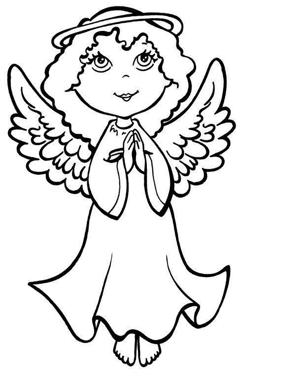 Guardian Angel Coloring Pages For Kids