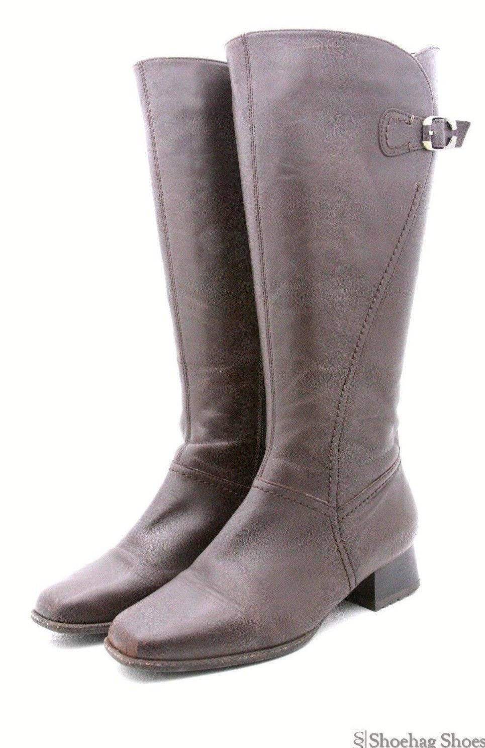 These are a pair of Ara German Luftpolster Womens Boots 8 M genuine Brown  Leather Zip knee High Tall 72afdd8df1c0