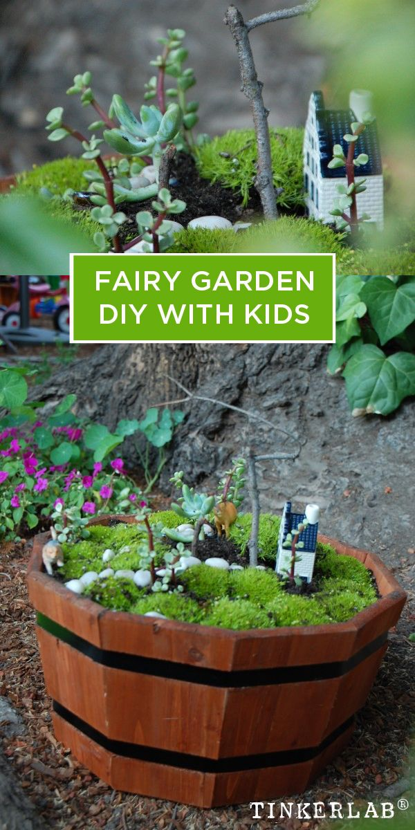 DIY Fairy Garden with Kids Mini jardines, Jardines y Huerto