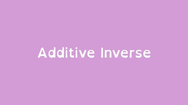 Math Shorts Episode 1 Additive Inverse On Vimeo School