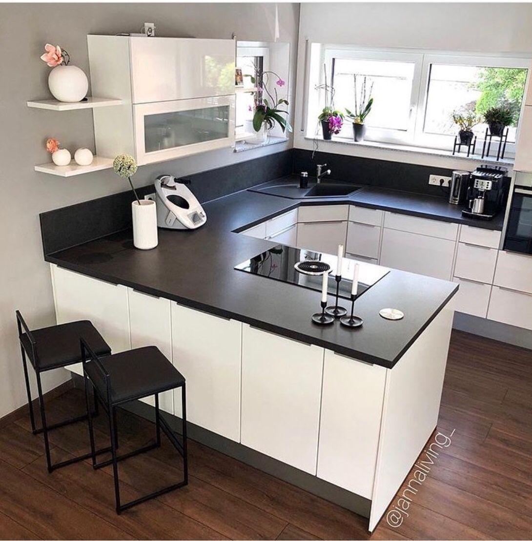 16 black and white kitchen decor ideas in 2020 white