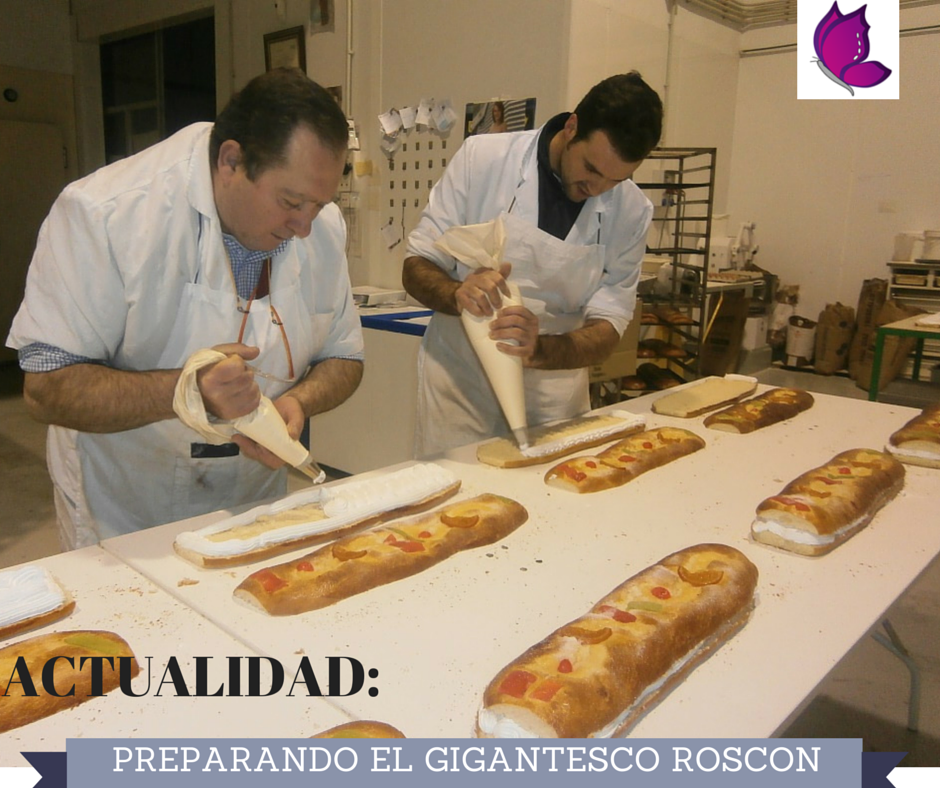 PREPARANDO EL GIGANTESCO ROSCÓN http://glamourlucena.es/?p=4050