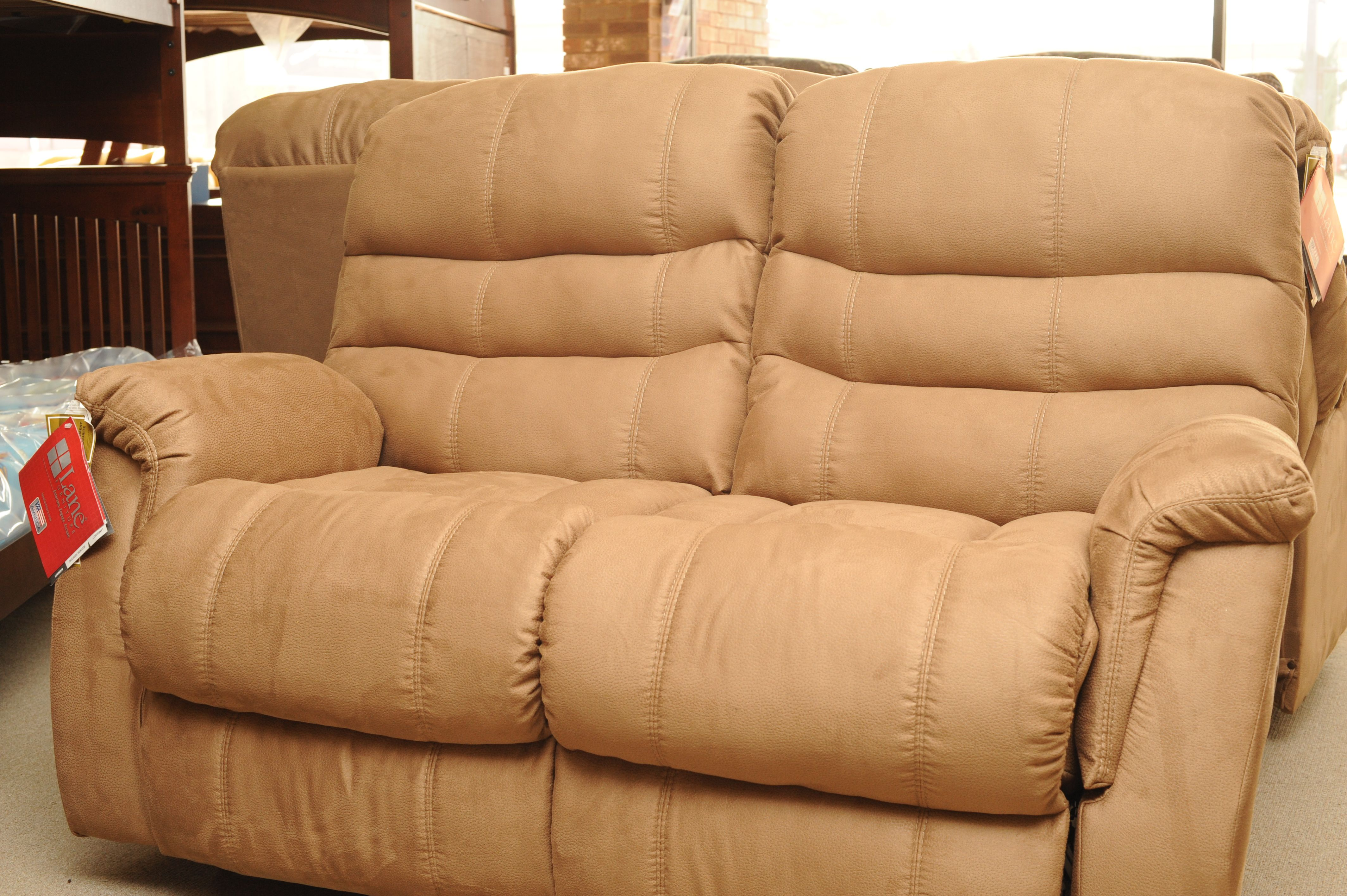 Fabulous Microfiber Faux Suede Reclining Loveseat By Lane Home Cjindustries Chair Design For Home Cjindustriesco