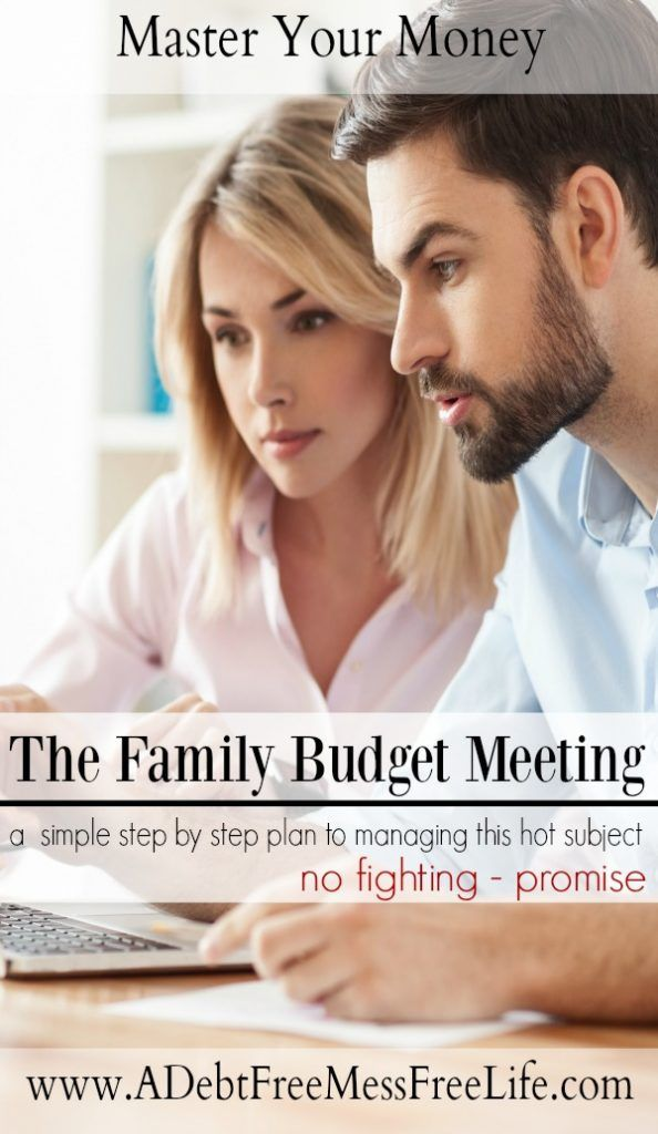 Do you want to start having family budget meetings but don't know where to start? This step by step plan will show you how to talk about money with your spouse. No fights - promise!