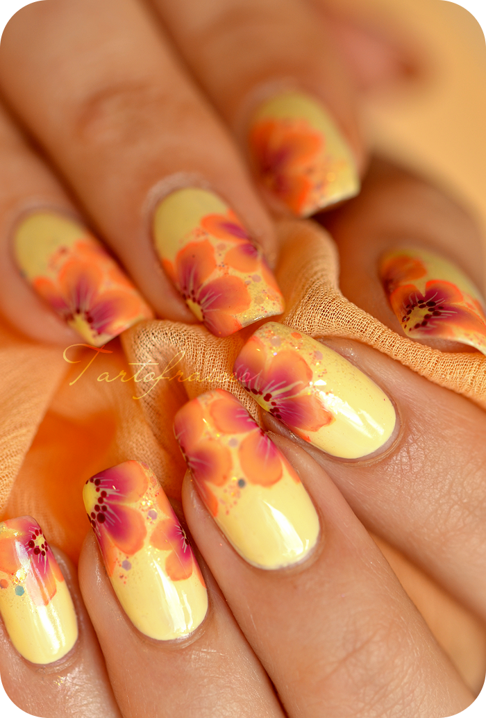 Nail Art One Stroke Fluo A Ray Of Islands By Tartofraises
