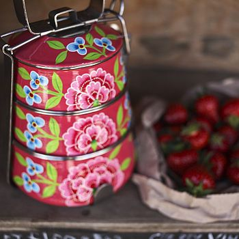 Franjipani Floral Tiffin Tin