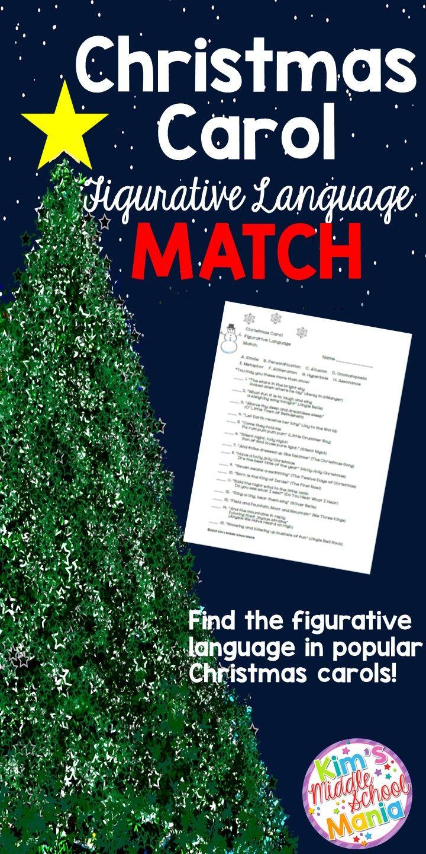 Christmas Activities Christmas Carol Figurative Language Match | Christmas activities, Christmas ...