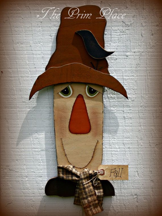 Primitive Scarecrow Wall Hanging Scarecrow Door Hanger Fall Wall