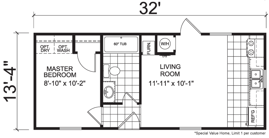 Image Result For 14x32 House Plans Single Wide Mobile Homes Mobile Home Floor Plans Tiny House Plans
