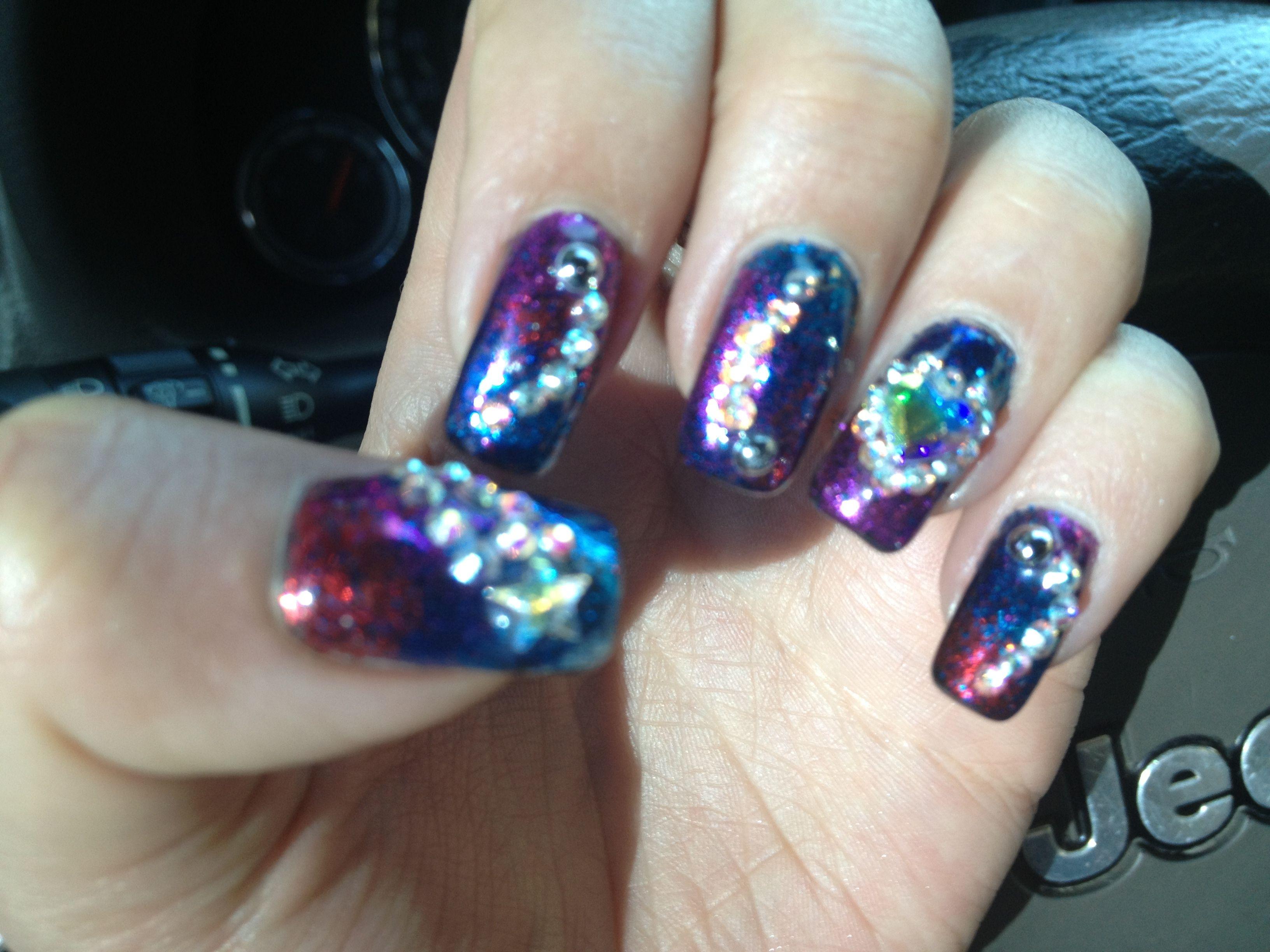 Sparkle nails moda pinterest sparkle nails