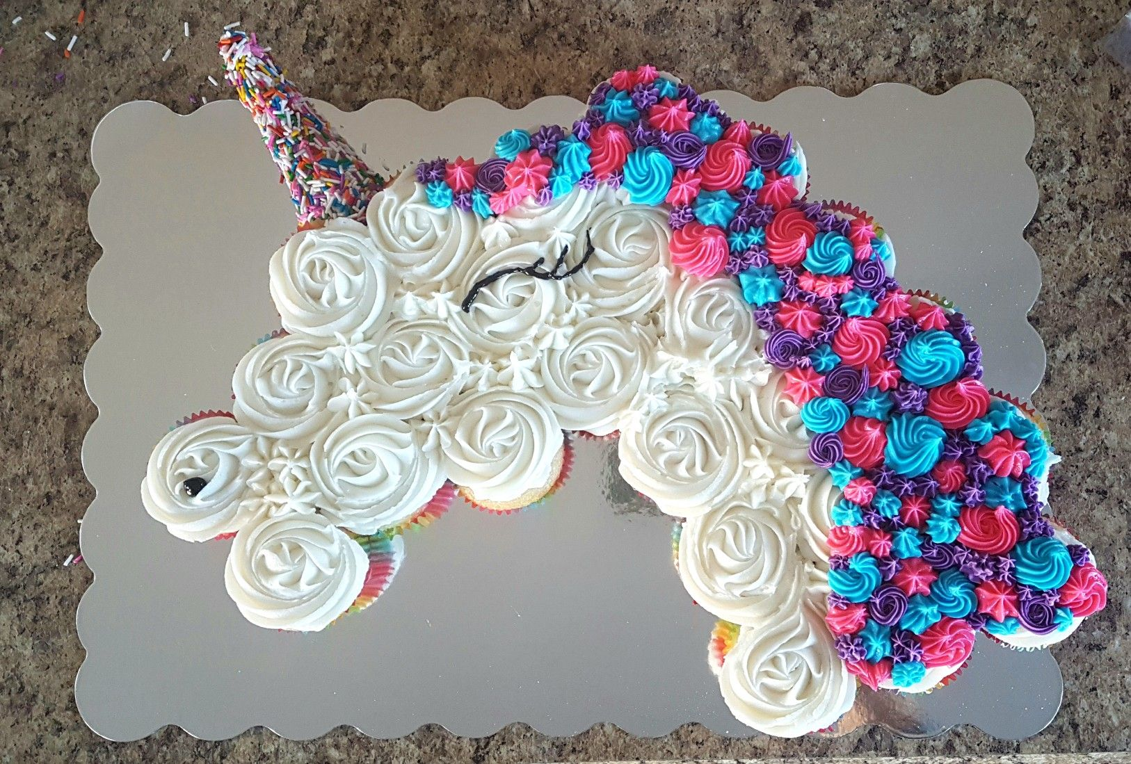 Unicorn Cupcake Cake With Images Unicorn Birthday Cake