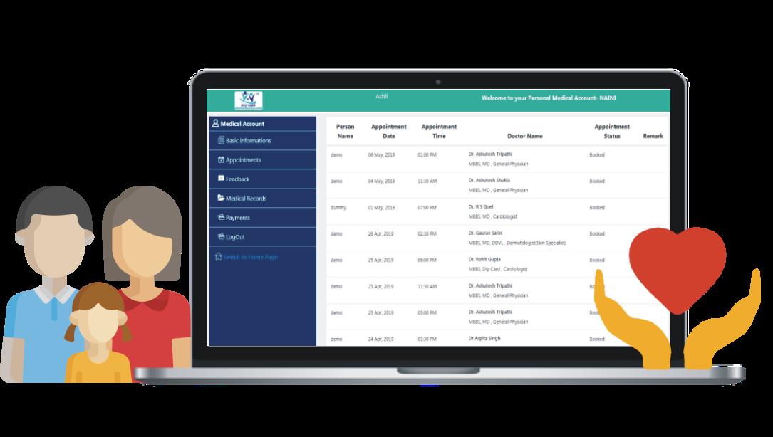 Patient Management Drive, COMO by DoctoriDuniya Patient